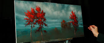 where the red trees grow an oil painting lesson