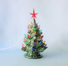 Ceramic Christmas Light Up Tree Amazon Com Ceramic Christmas Tree Lighted Handmade Handmade