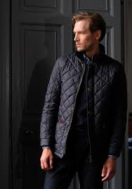 Mens Quilted Jacket in Navy blue by Vedoneire of Ireland & Stylish and sleek, the Vedoneire 3039 Quilted Jacket Adamdwight.com