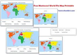 Montessori Geography Activities (Free Montessori World Map ...