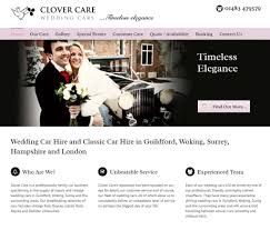Clover Care Wedding Car Hire Business For Sale Footprint Web Design