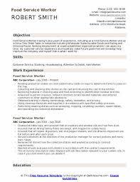Food Service Skills Resume Food Service Worker Resume Samples Qwikresume