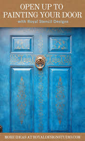 Paint Your Door with Stencil Designs DIY Home Decorating Ideas