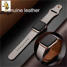 fit to viewer prev next genuine leather loop strap for apple watch