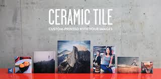 custom printed ceramic photo tile