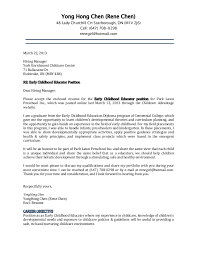 Cover Letter And Resume Rene Cover Letter For Child Care Director