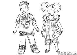 Disegni Bambini Del Mondo Da Colorare Migliori Pagine Da Colorare