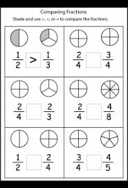 Fractions From Least To Greatest Chart Comparing Fractions 4 Worksheets Free Printable