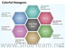 6 Steps Hexagonal Chart Powerpoint Diagram