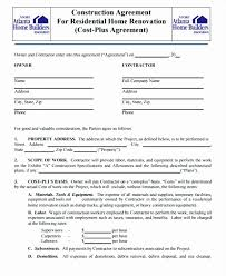 Simple Construction Contract Template Free Example Templates