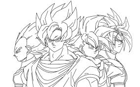 Impressive Dragon Ball Z Coloring Pages With Kai To Print Vegeta