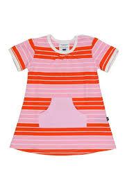 Toobydoo Stripe Print Dress Baby Girls Hautelook