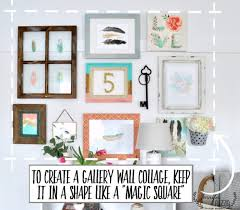 gallery wall collage with frames