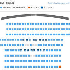 Fandango Theater Seating Chart The Seats At The Top Are At