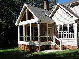 screened porch raleigh nc gable roof by wilmington deck and