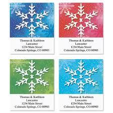 Snowflake Address Labels 4 Designs
