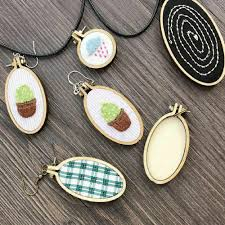 details about crafts gift embroidery hoop cross stitch frame hand stitching wooden framing