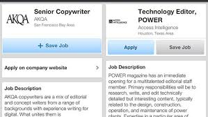 Copywriter Job Description Interesting Use LinkedIn To Apply For Jobs From Your Phone CBS News