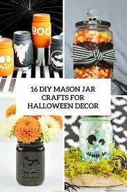 Mason Jar Crafts 16 Diy Mason Jar Crafts For Halloween Daccor Shelterness