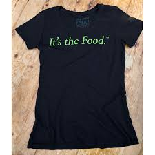 it s the food women s organic scoop neck t shirt front
