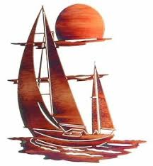 24 sunset sails metal wall art by neil rose on neil rose metal wall art with 24 sunset sails metal wall art by neil rose nautical wall art