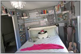 hipster bedroom inspiration. Delectable Hipster Bedroom With Guitar And Posters On The Gray Wall White Mattress Cool Inspiration