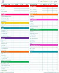 Household Expenses Spreadsheet Excel Printable Monthly Household Budget Spreadsheet Excel