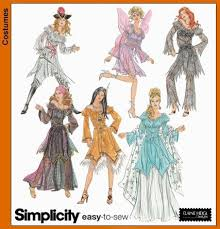 Halloween Costume Patterns Simple Christmas Craft Customs Simplicity Sewing Pattern 48 For