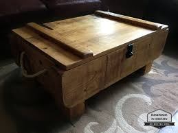 rustic 3ft storage chest coffee table