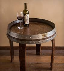 Wine Barrel End Table 22 Home Furniture Alpine Wine Design