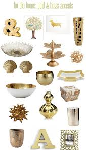 touches of brass gold modern house design room decor and room
