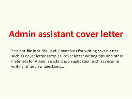 Admin Assistant Cover Letter – Worldwidejibaro.co