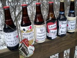 diy valentine s day themed bottle labels