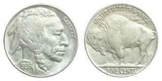 1936 Buffalo Indian Head Nickel Coin Value Prices Photos