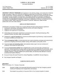 Architecture Resume Examples Free Excel Templates