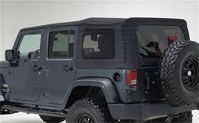 smittybilt 9085235 oem replacement soft top black diamond jeep wrangler 4 door