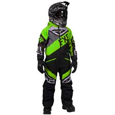 Details About Fxr Fuel Kids Snow Monosuit Black Charcoal Lime 2