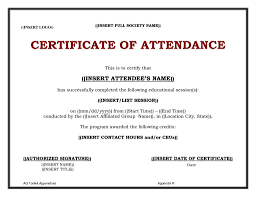 Sample Certification Letter Of Attendance Best Of Template
