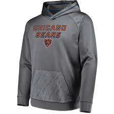 Bears Nfl Chicago Embossed Geo Performance Fuse Gray Men's Hoodie
