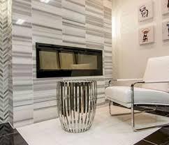 white tiled livingroom idea