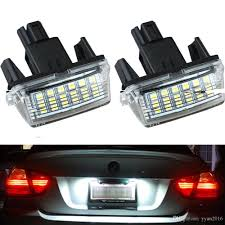 Toyota Camry License Plate Light Replacement Auto Parts Accessories Pair Led License Plate Lights White