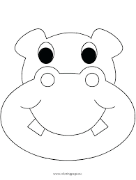 Cute Hippo Coloring Pages Hippopotamus Coloring Page 4 Nice Coloring