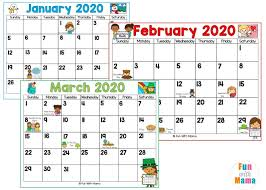 Use erasable crayons or erasable markers for the ability to easily fix any mistakes. 2020 Kids Calendar Printable Fun With Mama