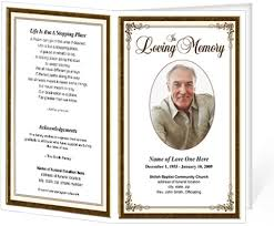 Free Funeral Program Templates Download Custom Memorial Service Program Examples Hcsclubtk