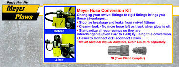 hose conversion kits meyer snow plow parts meyer hose conversion kits
