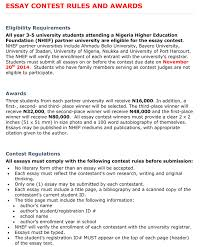 inaugural essay contest the role of higher education in nhef essay contest rules and awards3 1