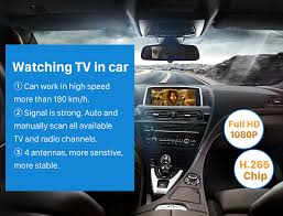 tv in car. seicane car digital tv dvb-t2 h.265 video receiver box for germany tv in