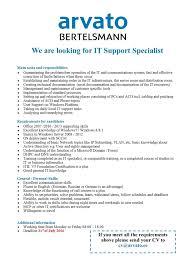cv keskus t ouml ouml pakkumine it support specialist toumloumlpakkumise number