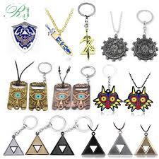 2019 rj new legend zelda logo necklace pendants sword z triangle breath of the wild owl triforce shield car keyring men jewelry c19041203 from xiao0003