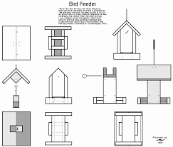 free bird feeder plans pdf fresh wood